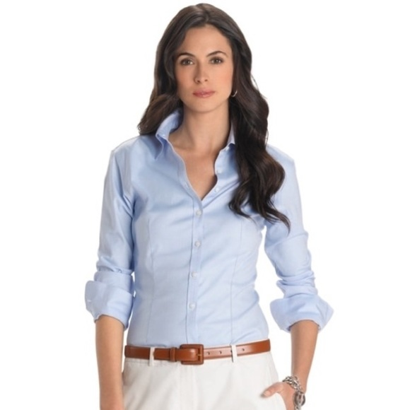 Brooks Brothers Blue Fitted No-Iron Shirt - Size 4